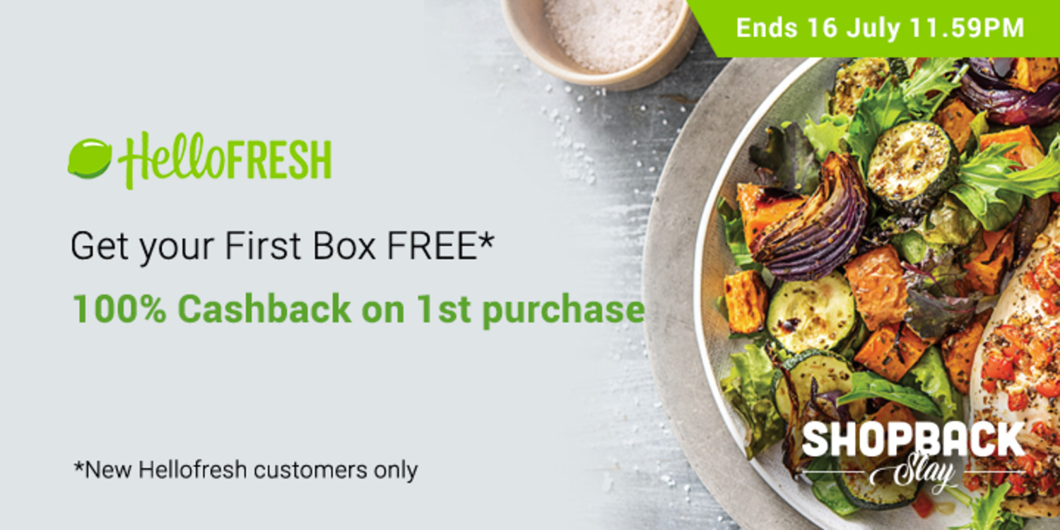 hellofresh 100% cashback christmas