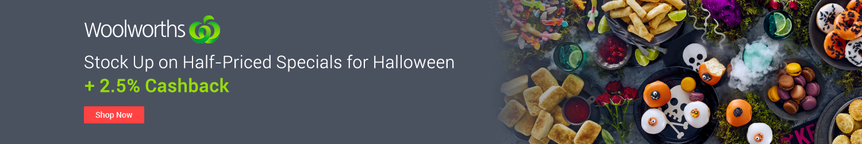 Woolworths 2.5% Cashback - Halloween