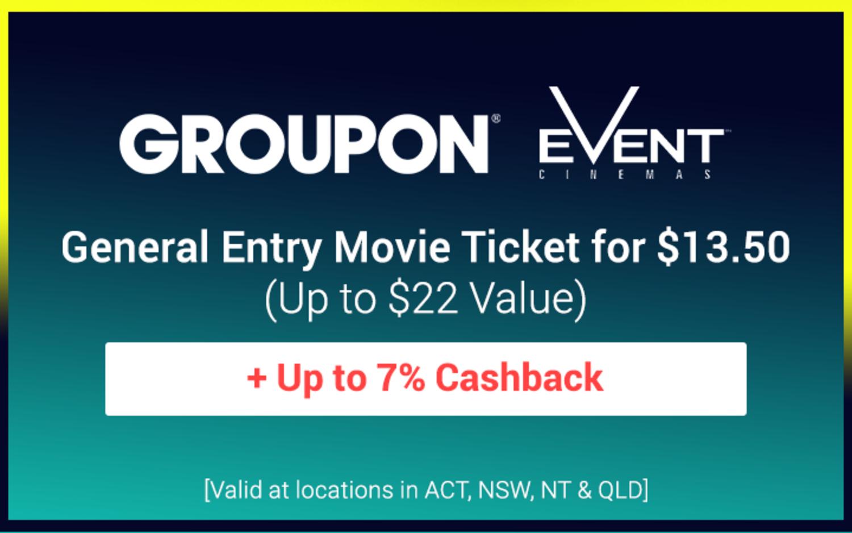 Groupon - $13.50 Event Cinemas Movie Tickets