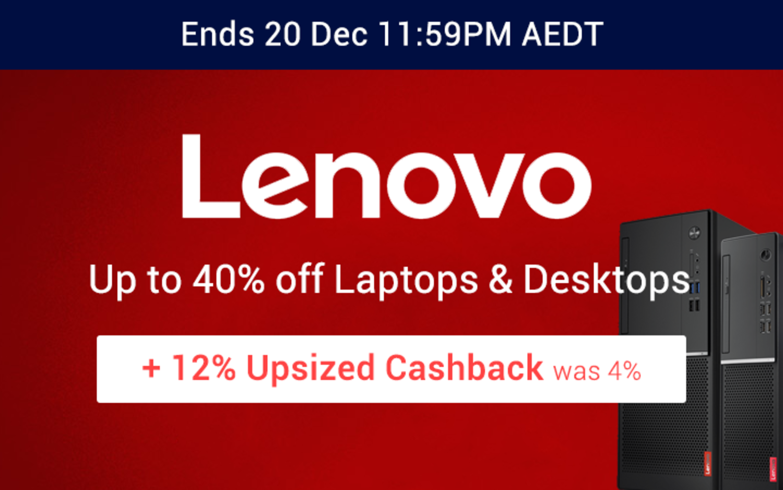 Lenovo - 12% Upsized Cashback