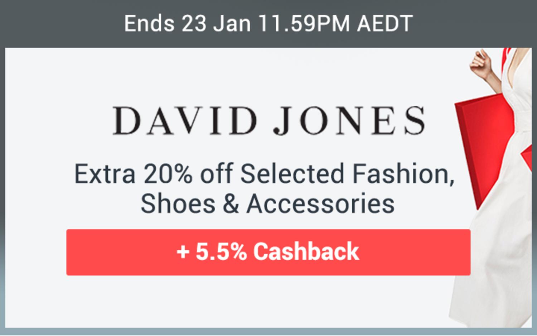 David Jones - Extra 20% off Selected