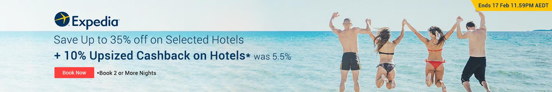 Expedia - 10% Upsized Cashback on Hotels