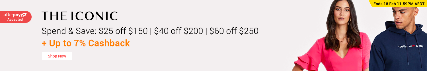 THE ICONIC - Spend & Save: Up to $60 off
