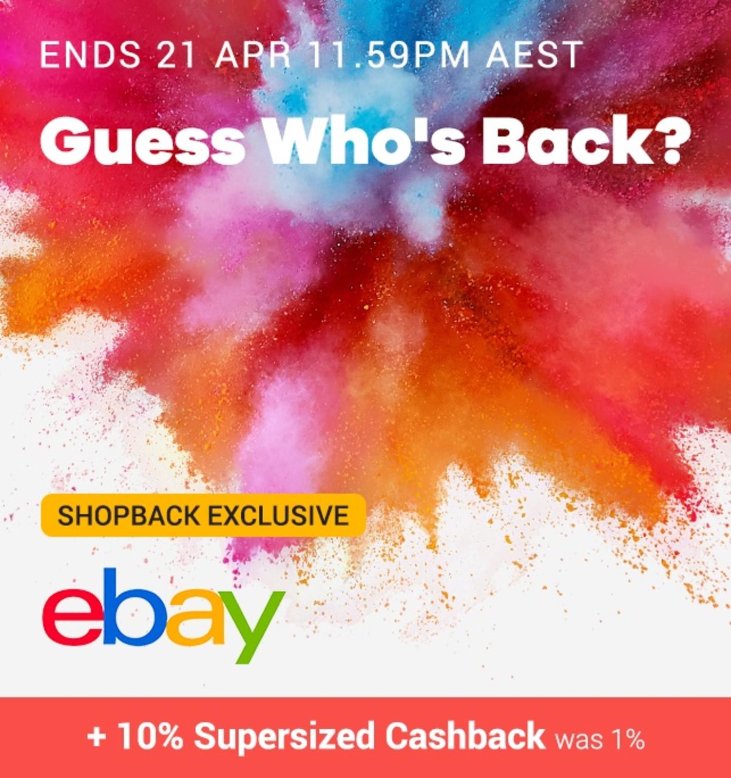 eBay - 10% Cashback Birthday