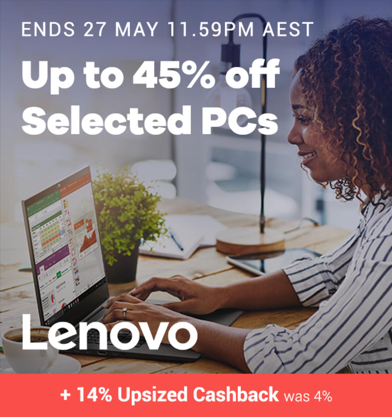 Lenovo - 14% Upsized Cashback