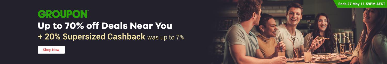 Groupon - 20% Upsized Cashback