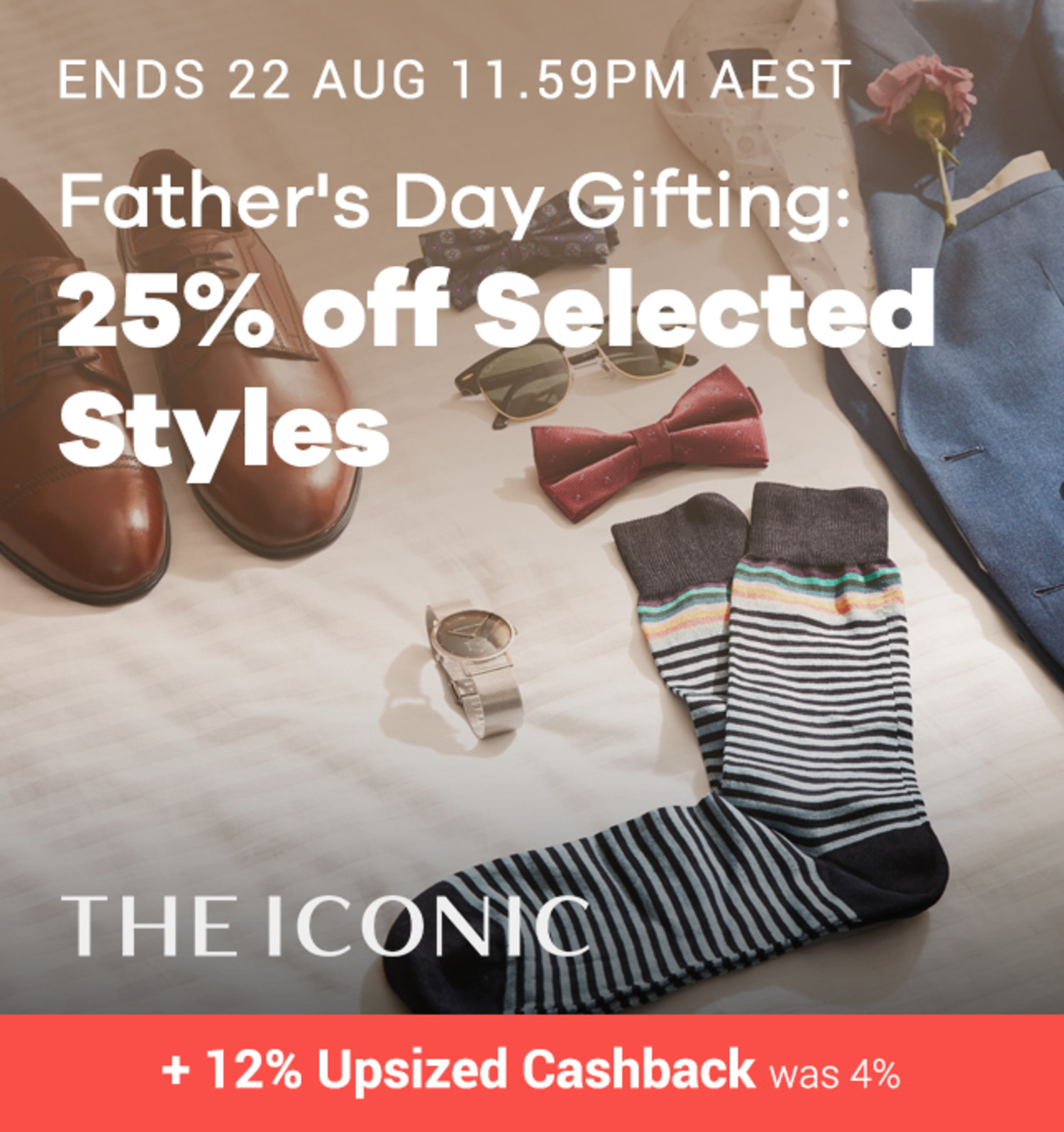 THE ICONIC - 25% off Selected Styles for Father's Day