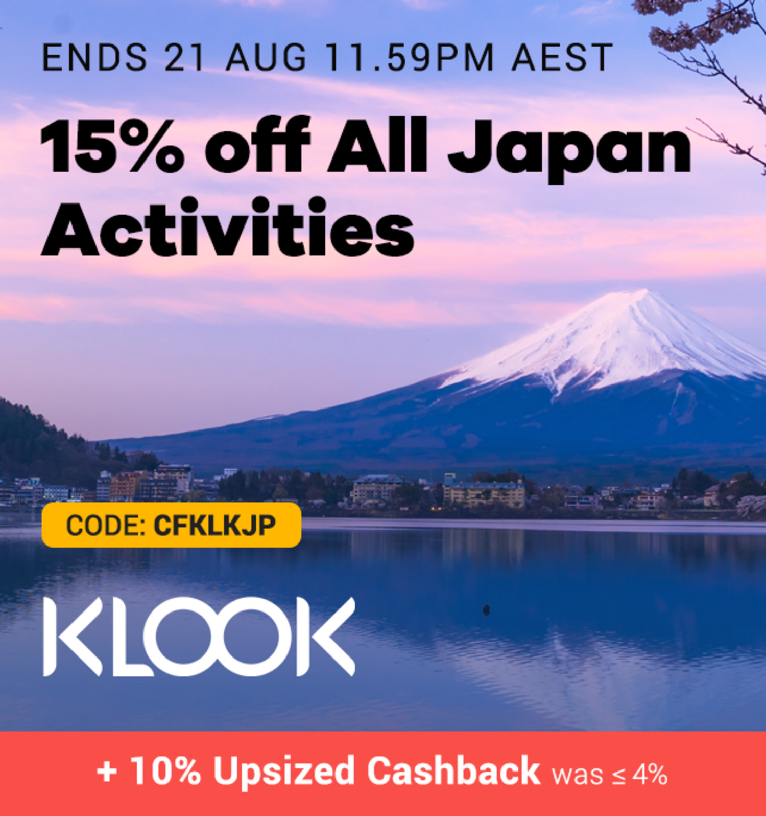 Klook - 15% off Japan - Click Frenzy Travel