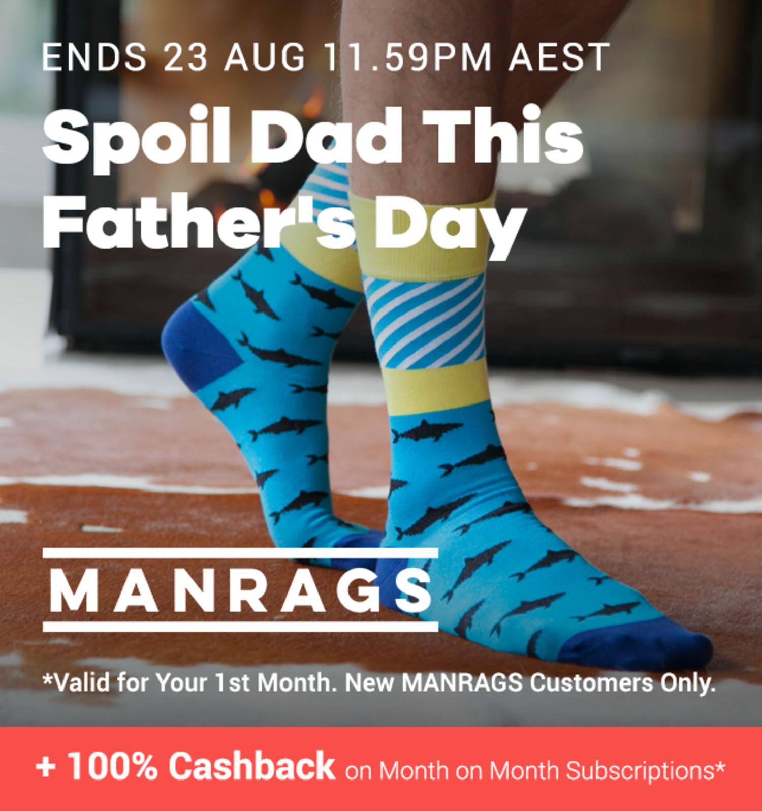 MANRAGS - 100% Cashback