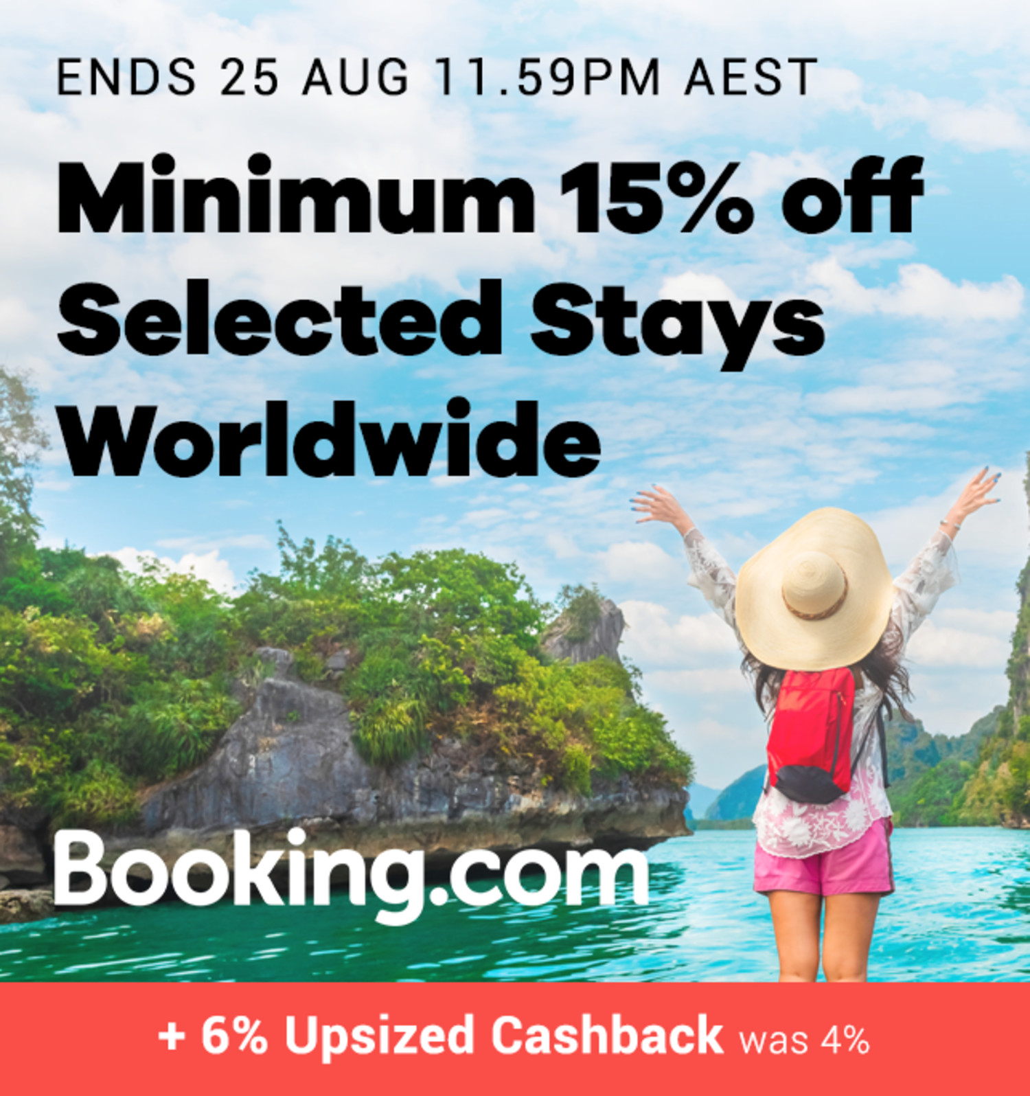 Booking.com - 6% Upsized Cashback