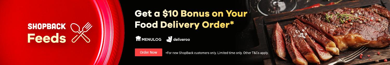 ShopBack - Food Delivery - $10 Bonus - New Customer Offer