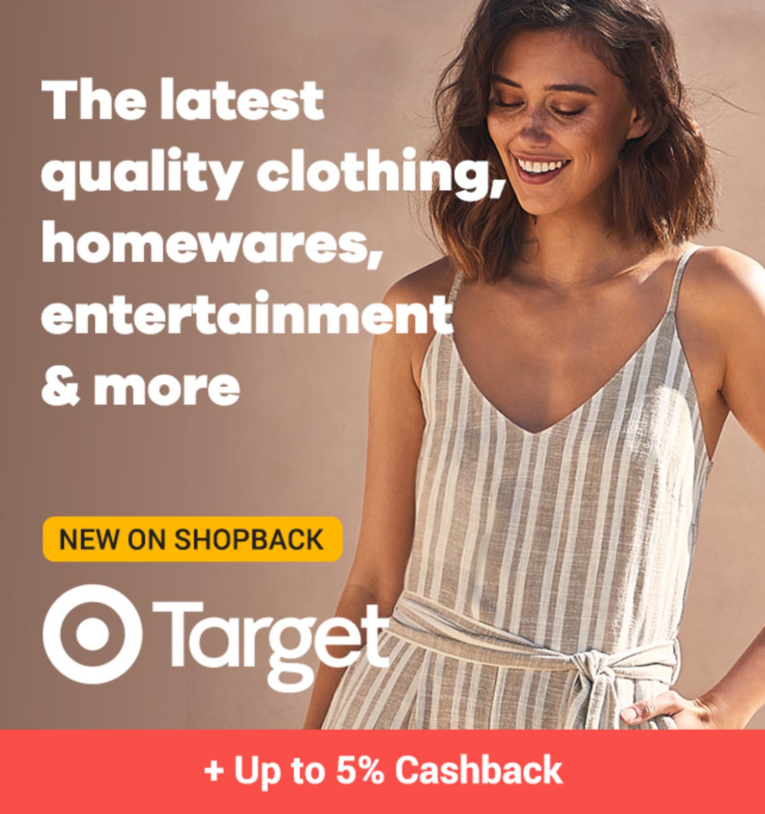 Target - Up to 5% Cashback - New