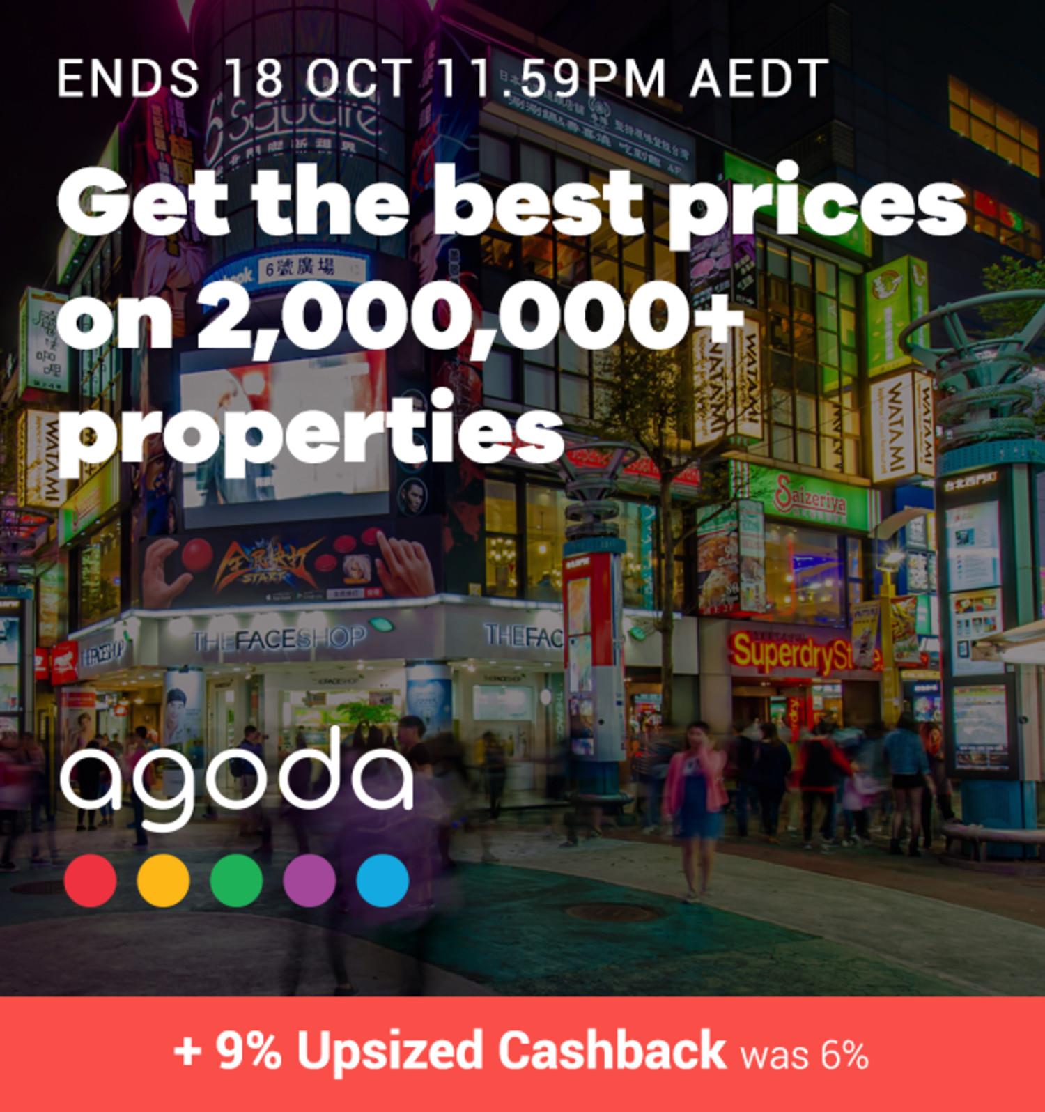 Agoda - 9% Upsized Cashback