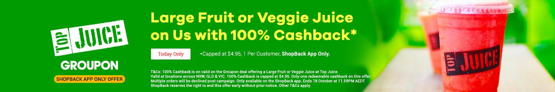 Groupon - 100% Cashback on Top Juice
