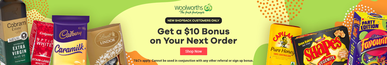 ShopBack - Woolworths - $10 Bonus - New Customer Offer