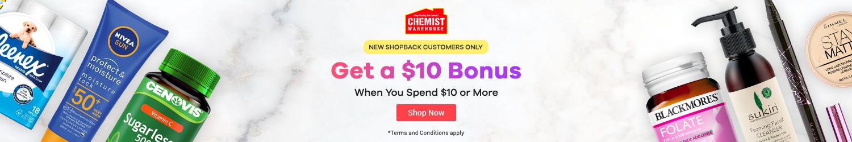 ShopBack - Chemist Warehouse - $10 Bonus - New Customer Offer