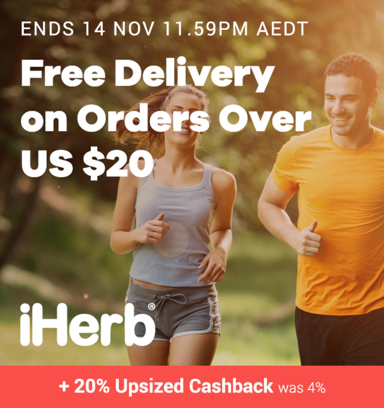 iHerb - 20% Upsized Cashback