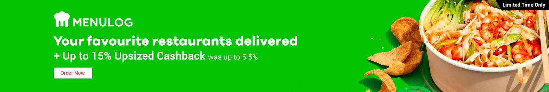 Menulog - Up to 15% Upsized Cashback (November 2019)
