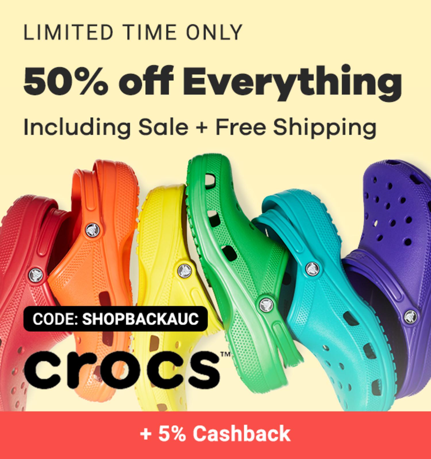 Crocs - 50% off Sitewide