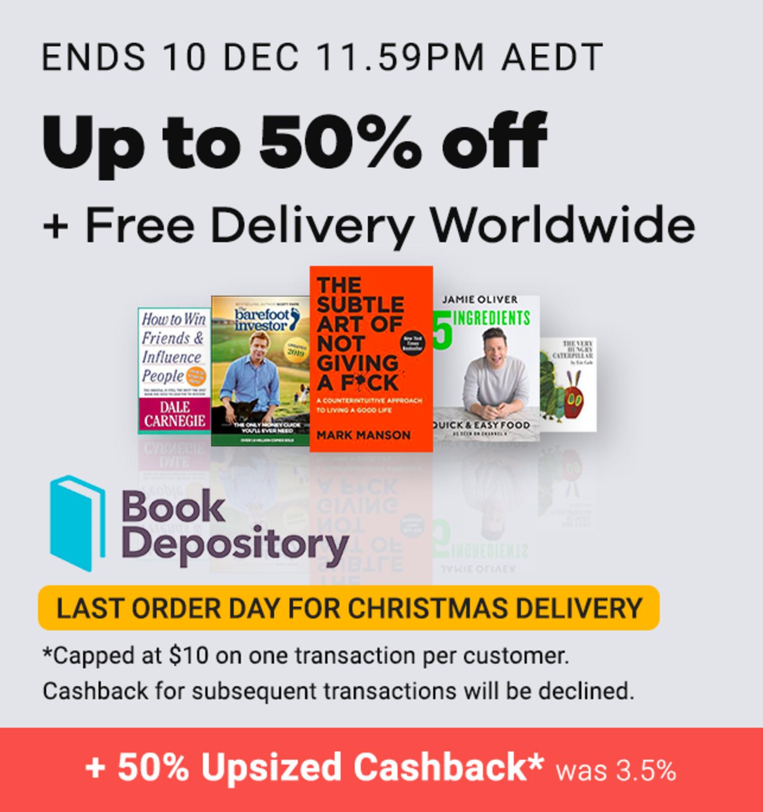Book Depository - 50% Cashback