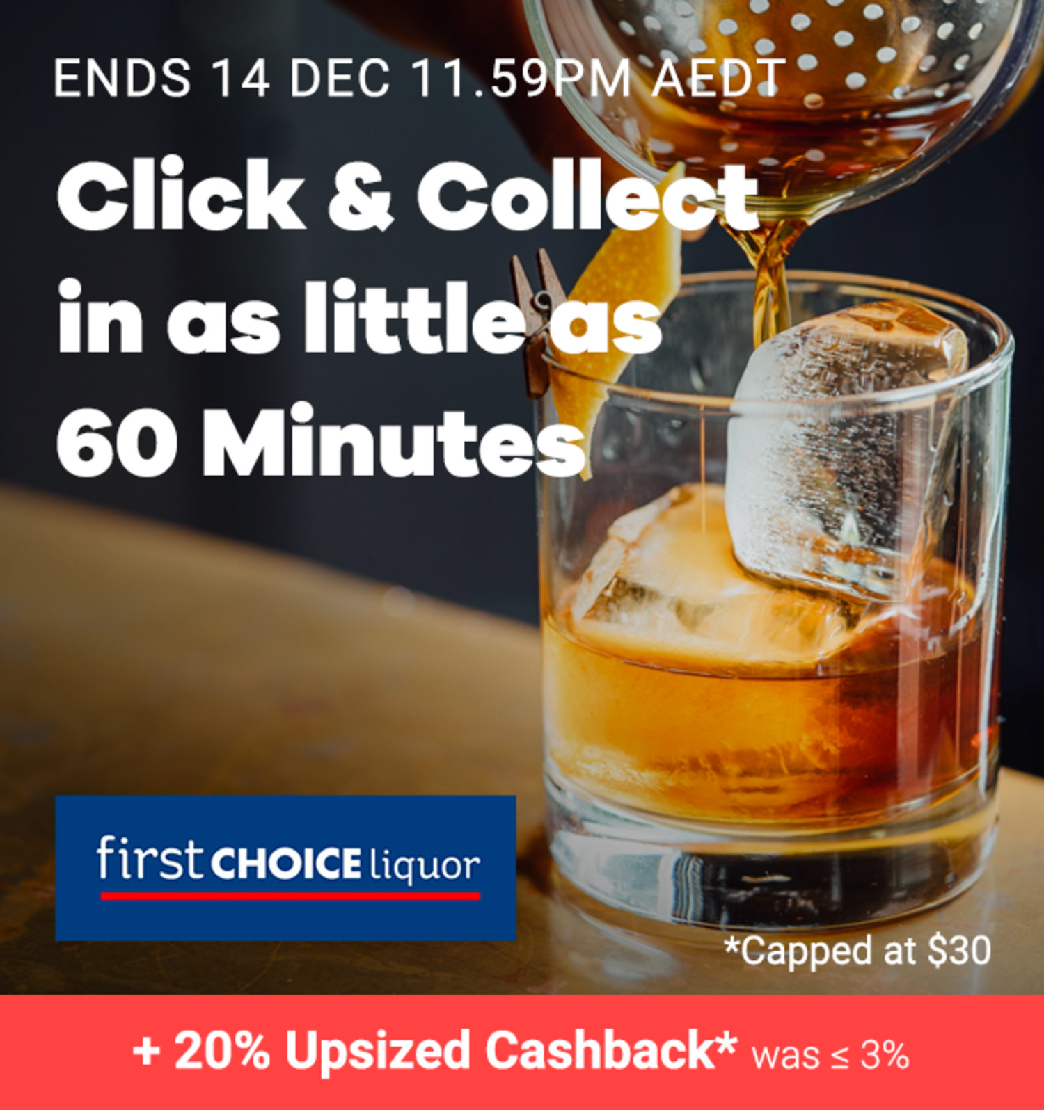 First Choice Liquor - 20% Upsized Cashback