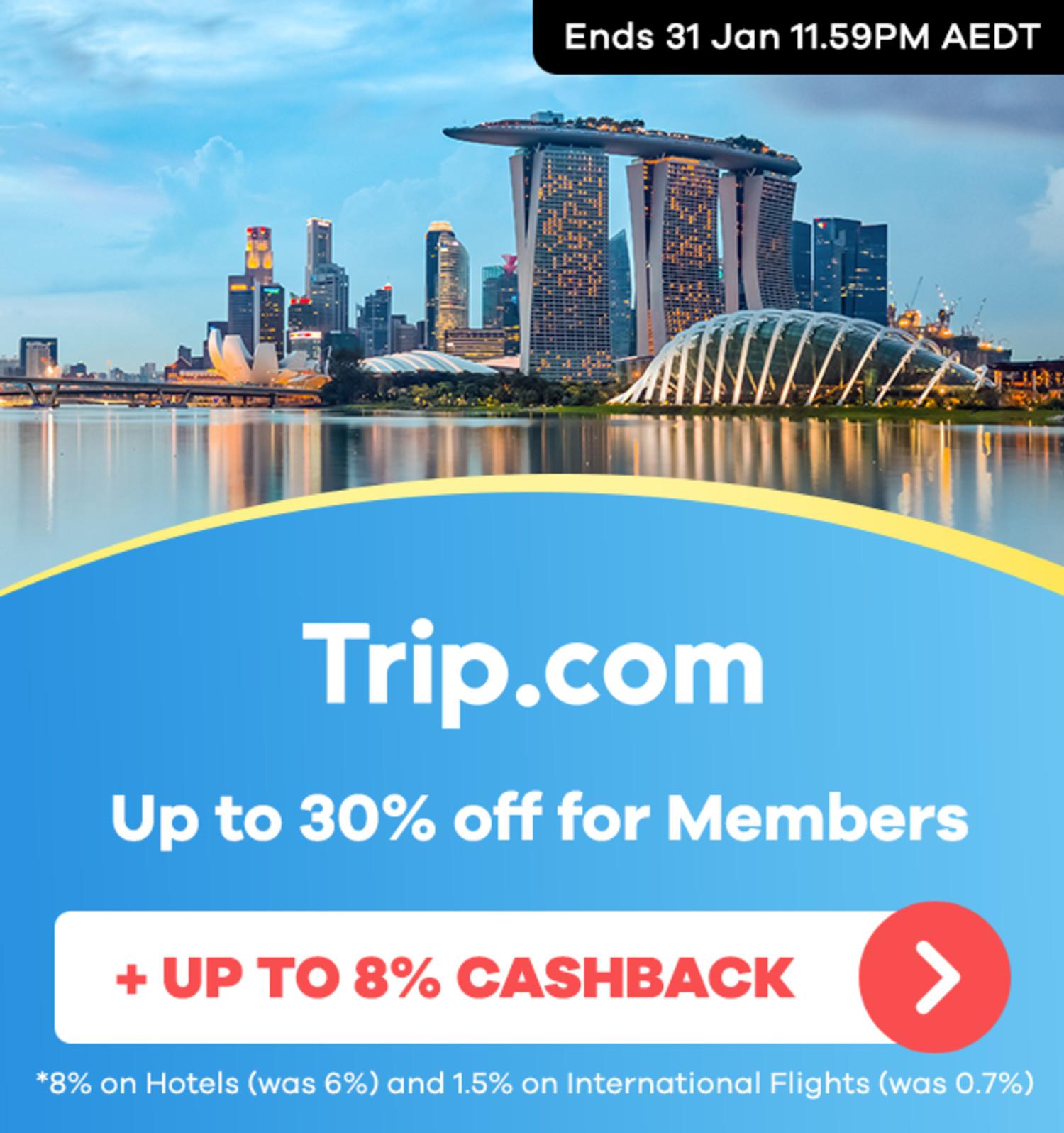 Trip.com - Up to 8% Upsized Cashback