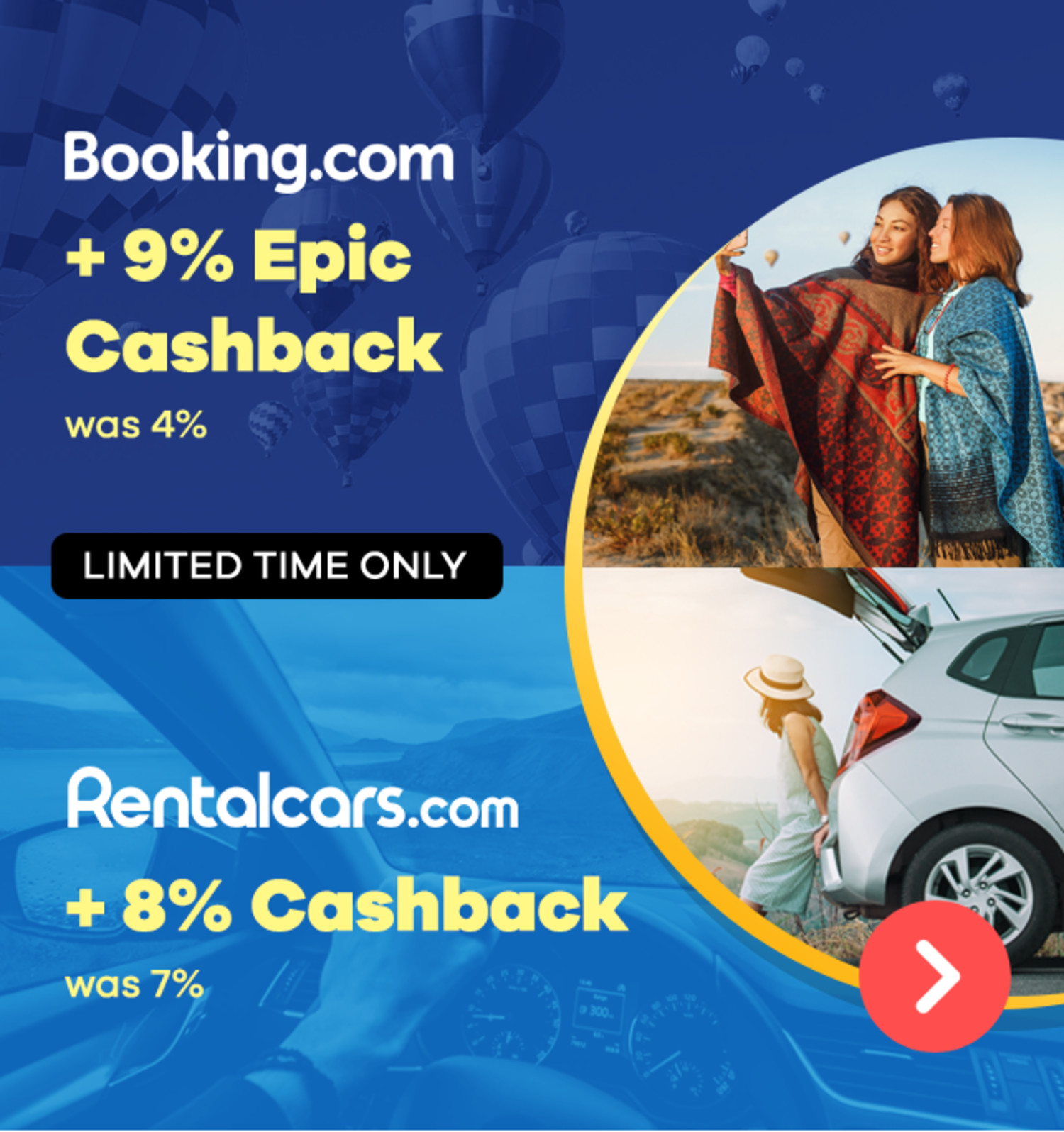 Booking.com - 9% Epic Cashback (February 2020)