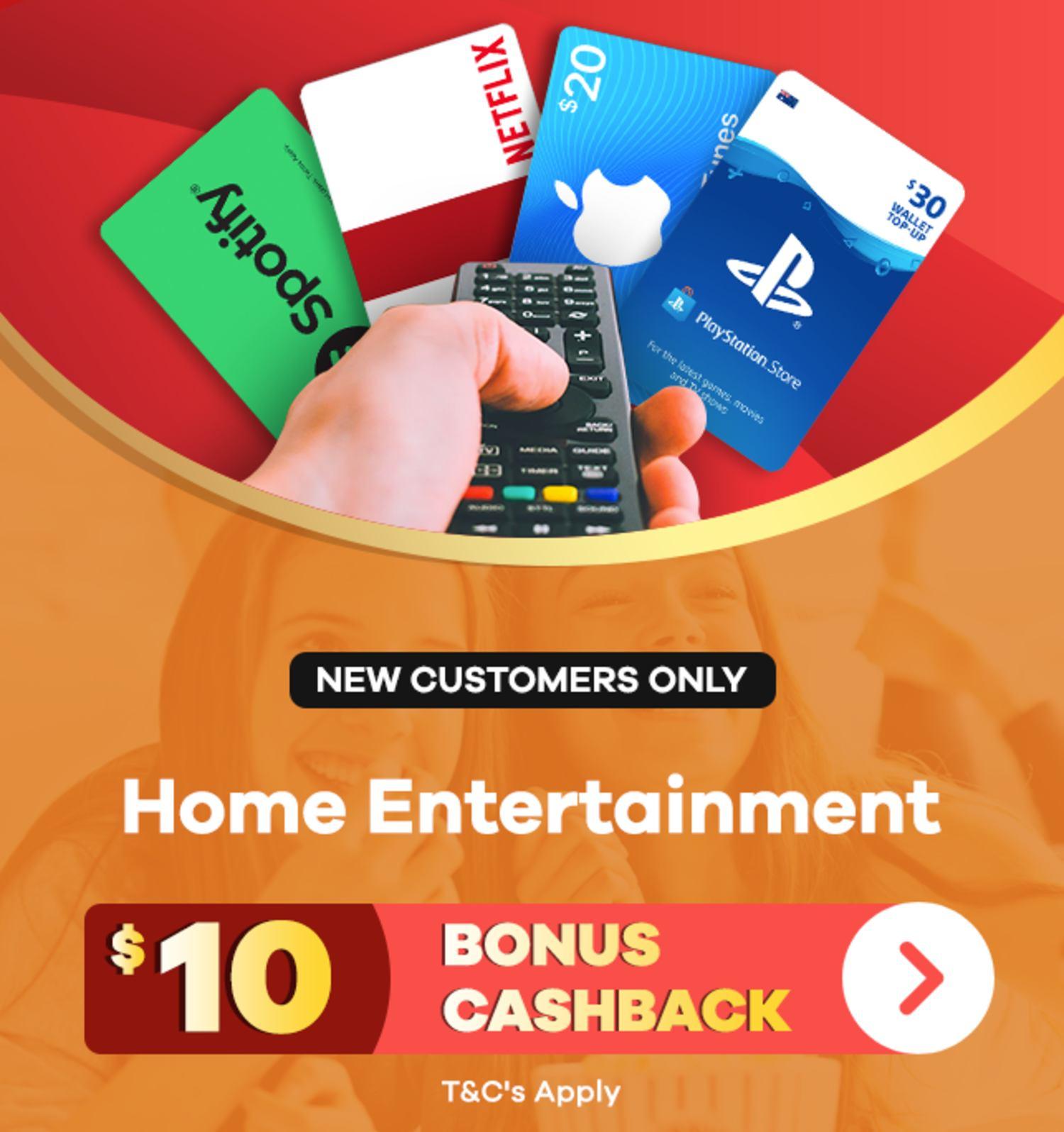 ShopBack   New Customer Offer   $10 Bonus Cashback on Home Entertainment