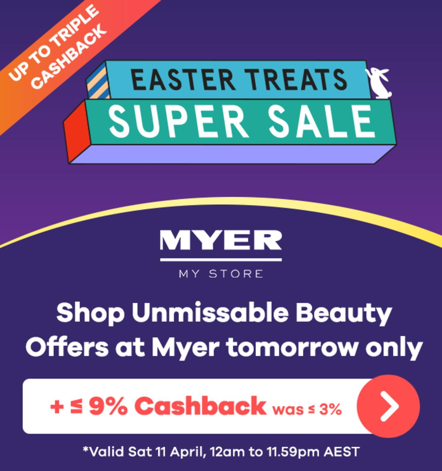 Myer - Easter Sale Teaser
