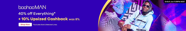 BoohooMan - 10% Upsized Cashback (June 2020)