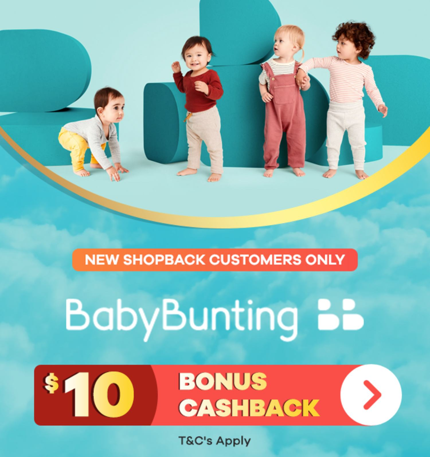 $10 Bonus At Baby Bunting | New ShopBack Customers