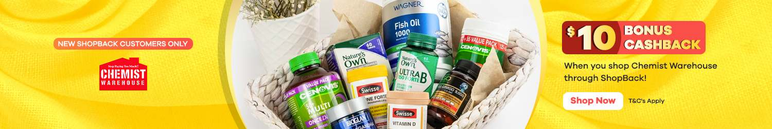$10 Bonus at Chemist Warehouse | New ShopBack Customers