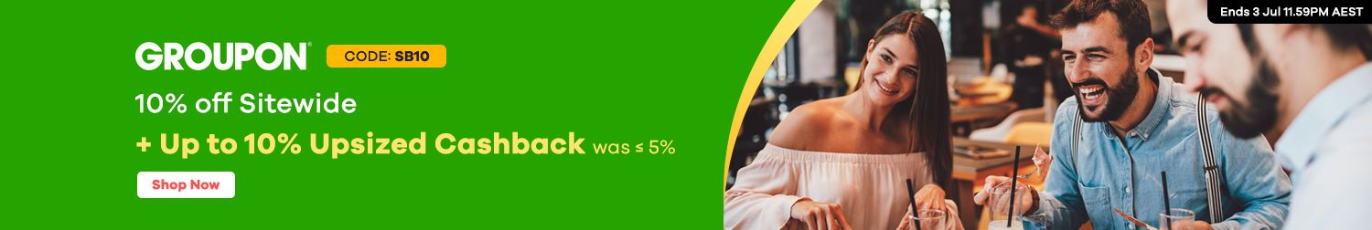 Groupon - Up to 10% Upsized Cashback (July 2020)