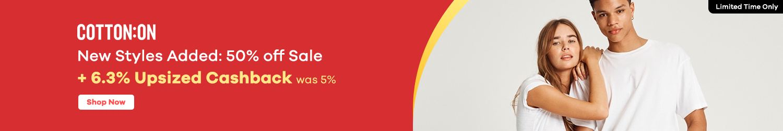 Cotton On - 6.3% Upsized Cashback (September 2020)