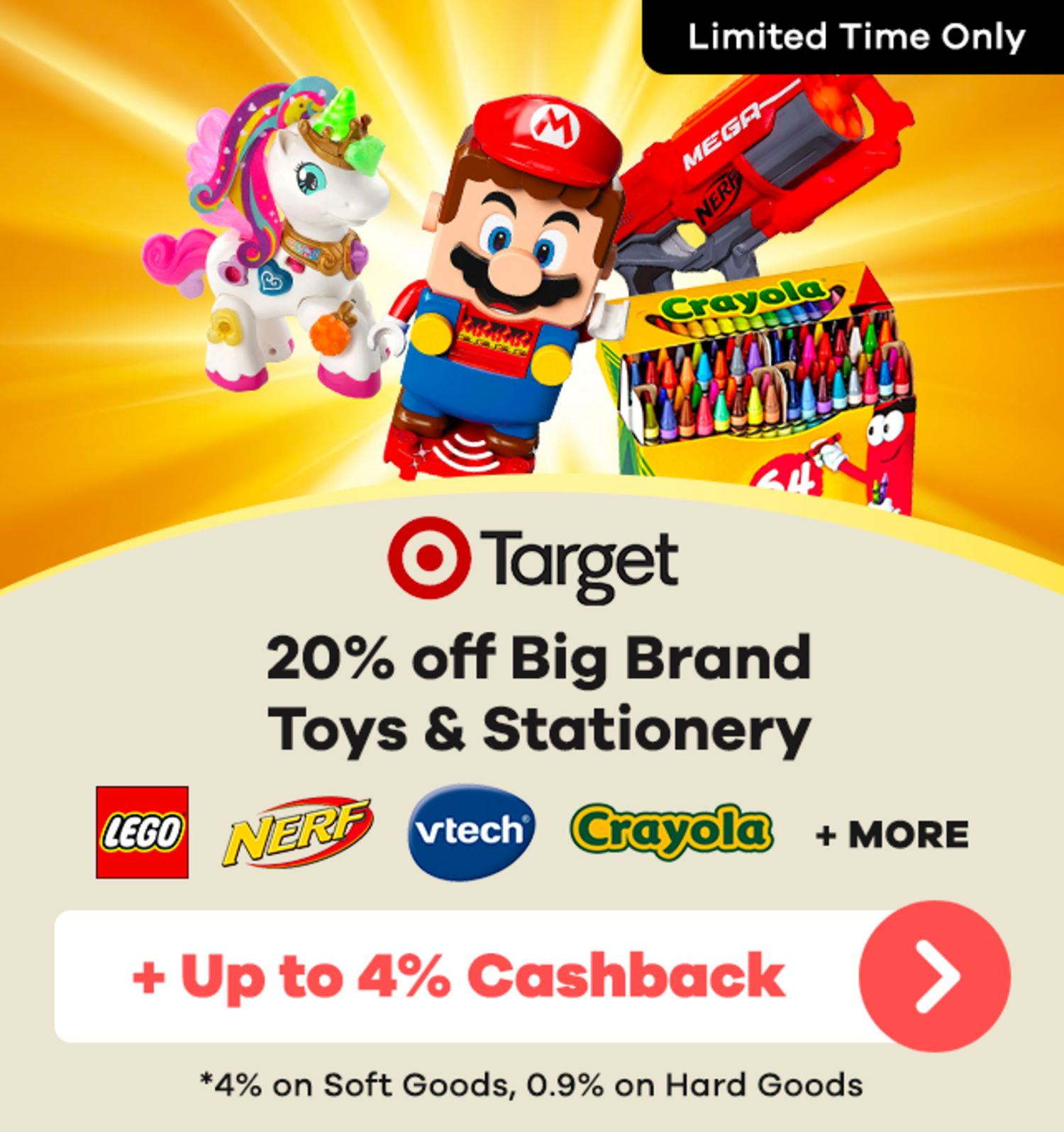 Target - 20% off Big Brand Toys & Stationery