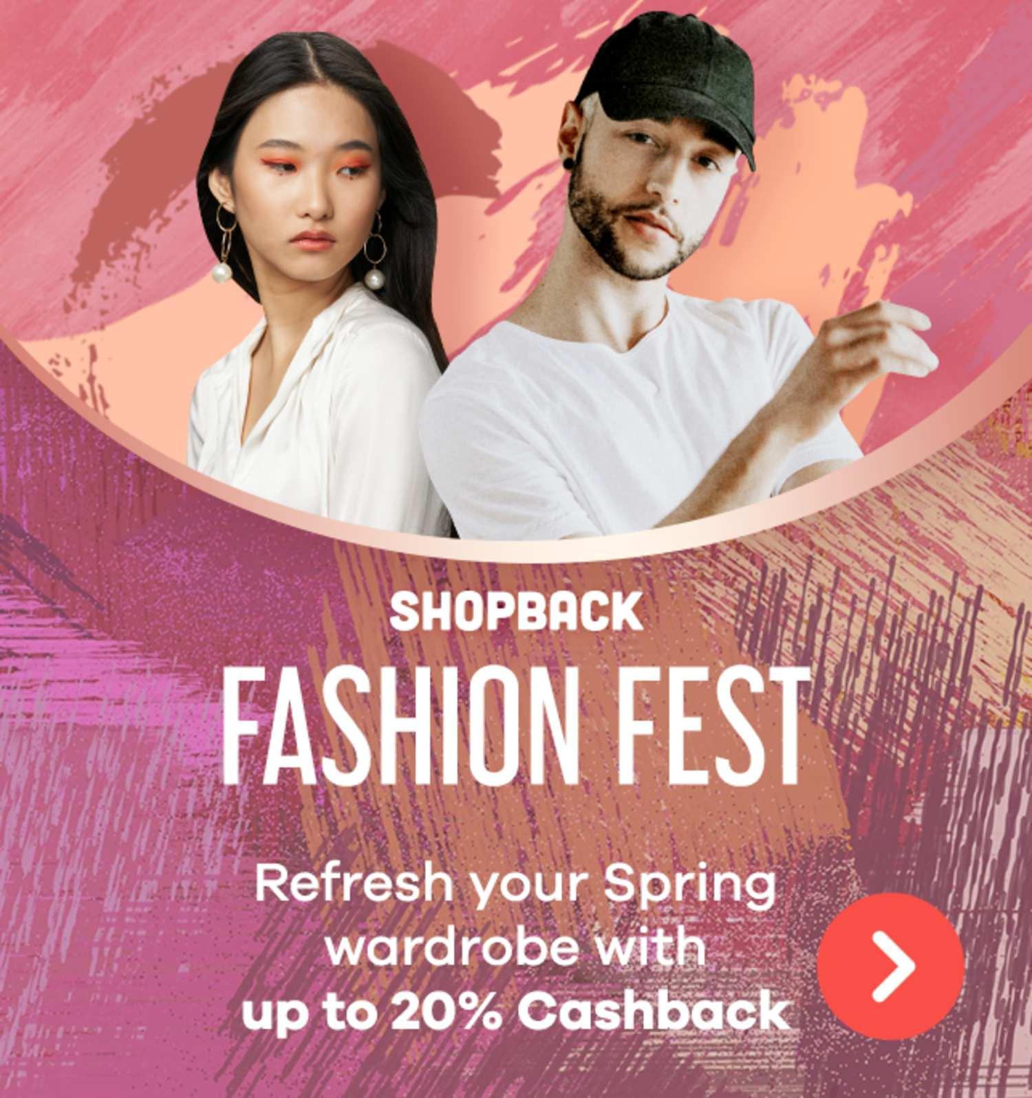 Fashion Festival   Cashback on Your Spring Wardrobe