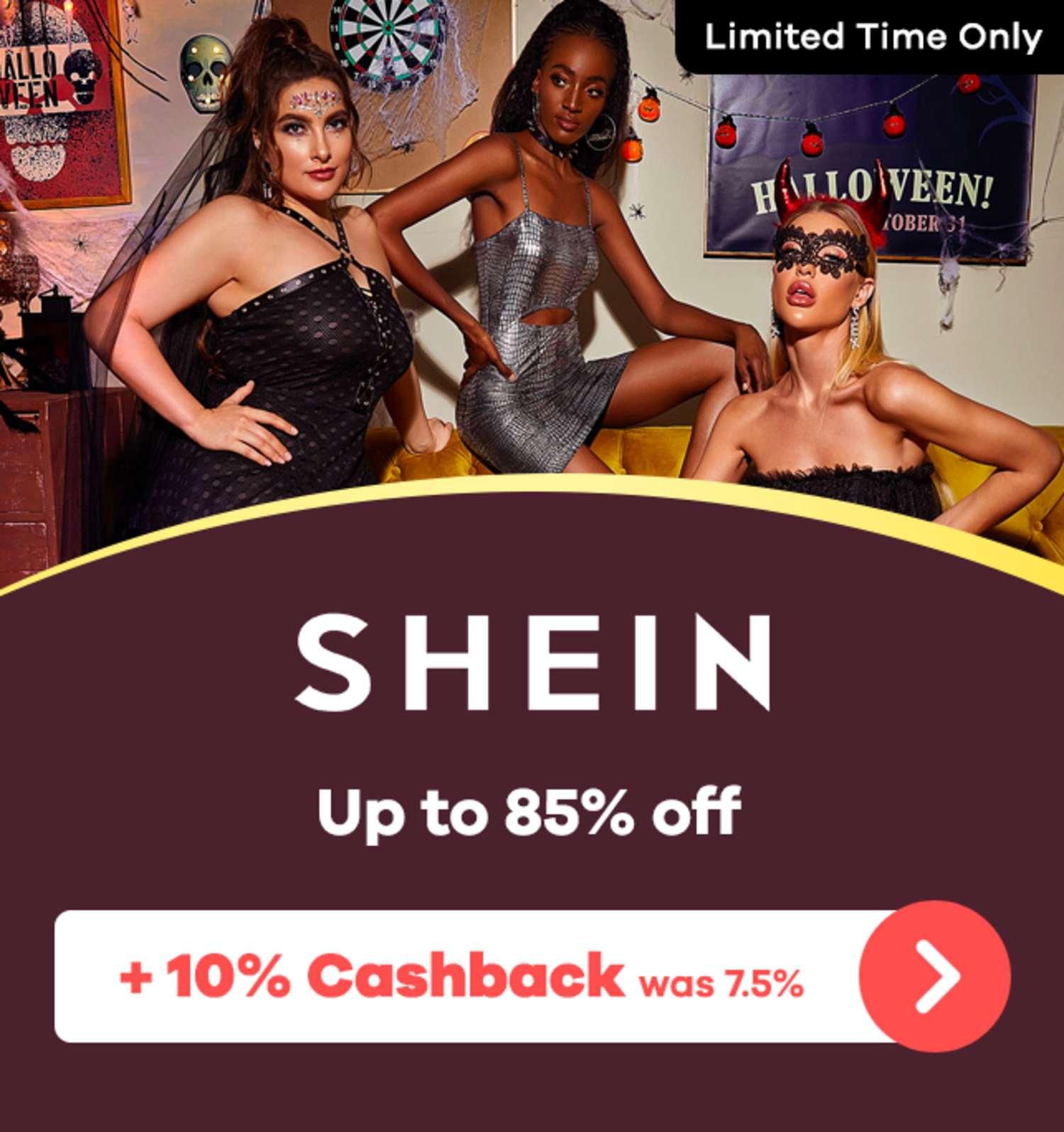 SHEIN - 10% Upsized Cashback (September 2020)