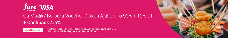 Promo Fave Visa 50%