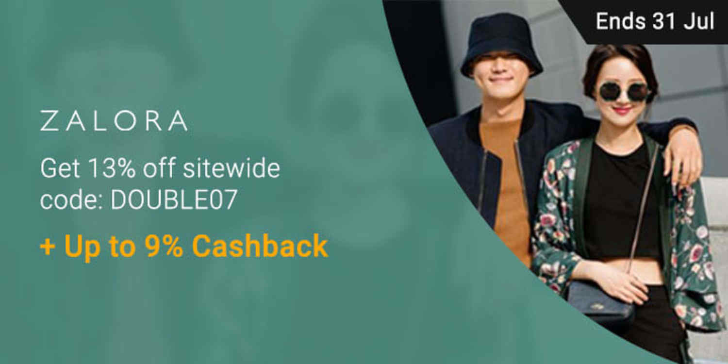 Shop ZALORA's EOSS & Get extra 13% off + Up to 9% Cashback