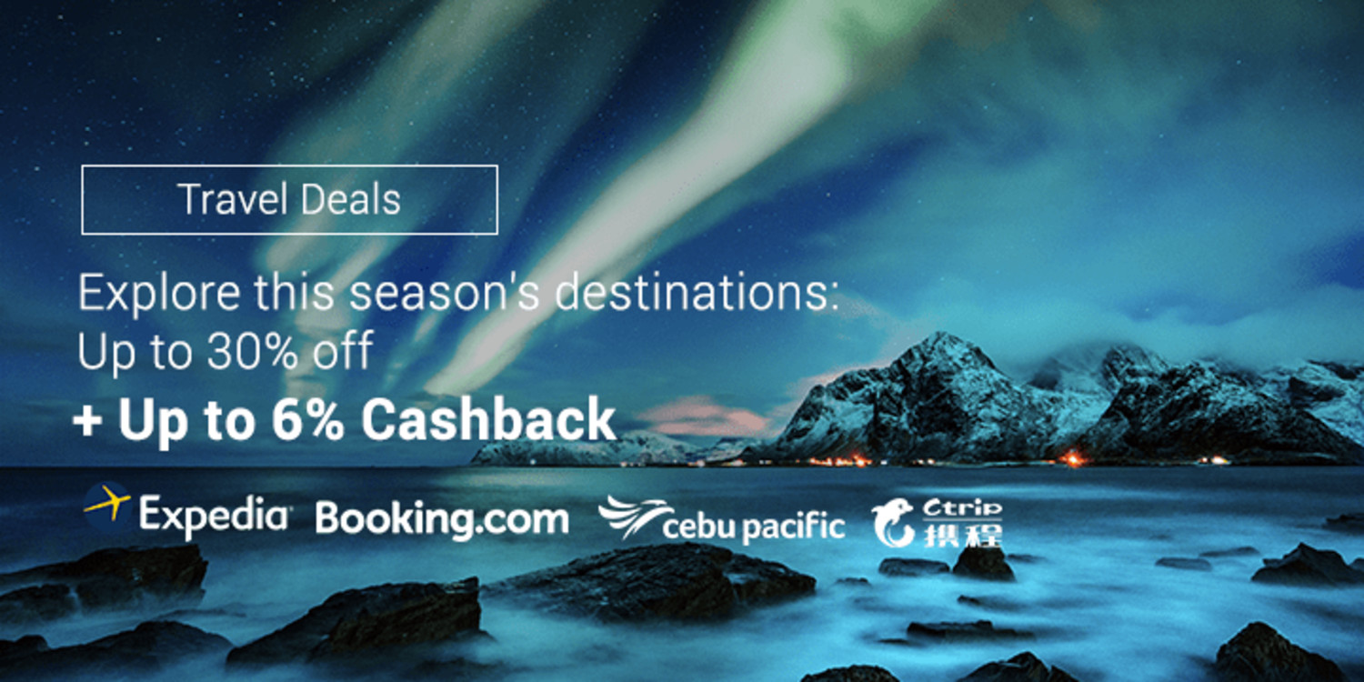Find out the best destinations this Rainy Season + Get up to 6% Cashback on our Travel stores