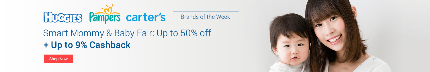 Brands of the Week: Mommy and baby's favourite get up to 9% Cashback