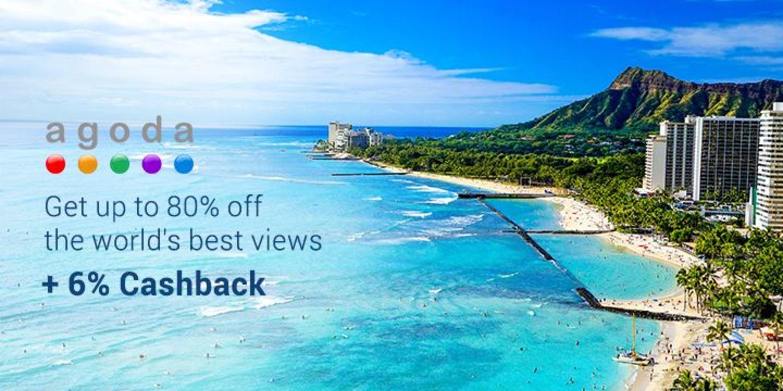 Get 80% off Agoda Hotels + 6% Cashback