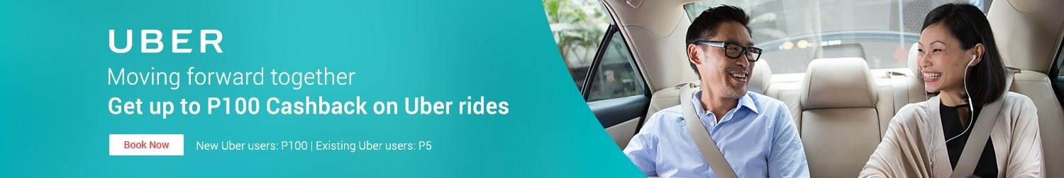 Move forward together with Uber: Get up to P100 Cashback when you book via ShopBack