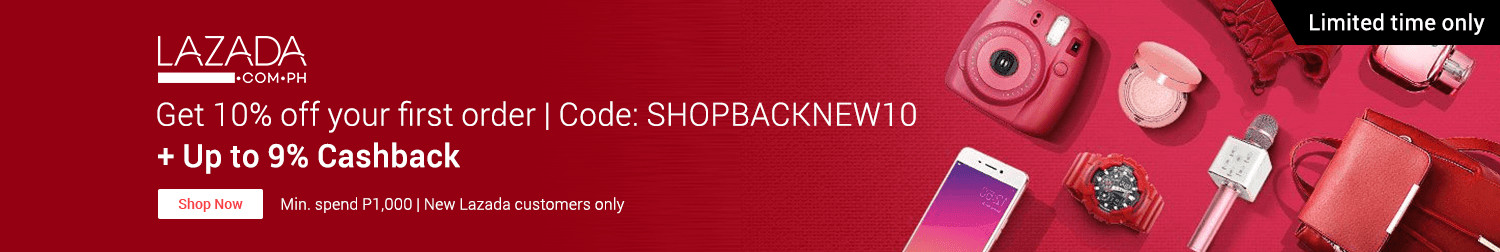Ends 30 Sep | Get 10% off your first Lazada order through ShopBack and get up to 9% Cashback