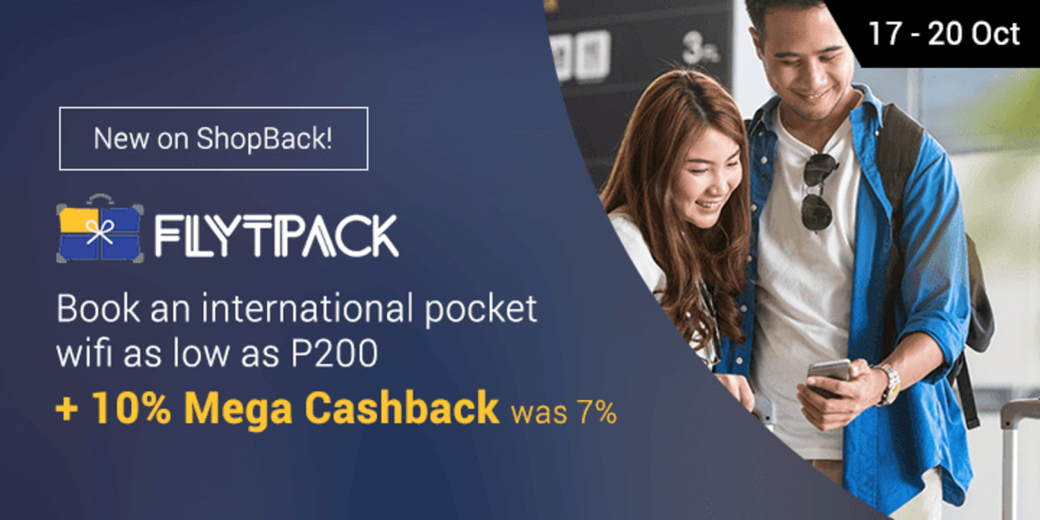 New on ShopBack: Book pocket wifis via Flytpack + Get 10% Mege Cashback