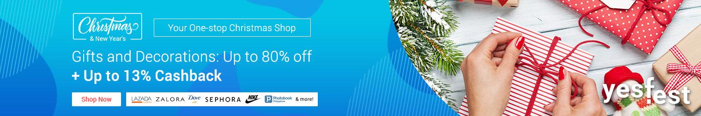 ShopBack's One-stop Holiday Shop + Up to 13% Cashback