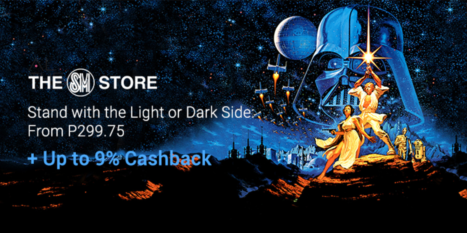 The SM Store: Star Wars apparel from P299.75 + Up to 9% Cashback