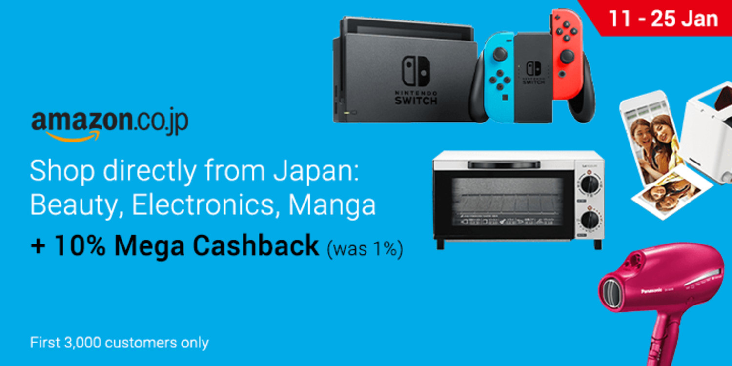 Ends 25 Jan | Shop directly from Japan and get 10% Mega Cashback on Amazon