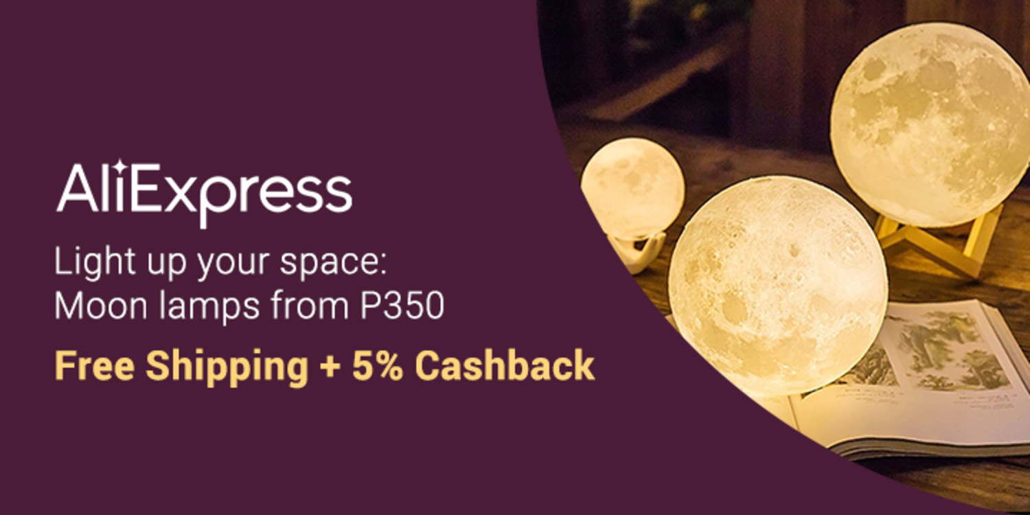 AliExpress | Moonlamps from P350 with Free Shipping + 5% Cashback