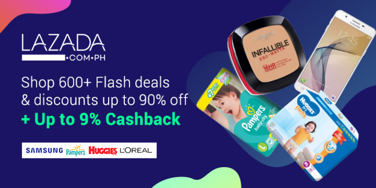 Countdown to Lazada's 6th Birthday Festival | Deals from P99 + Up to 9% Cashback